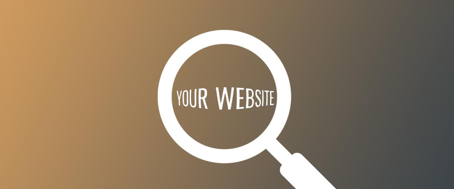 Your website under magnifying glass SEO