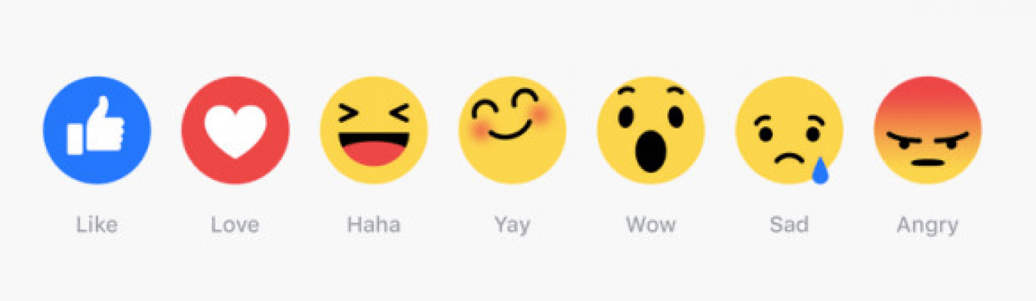 New facebook reacts