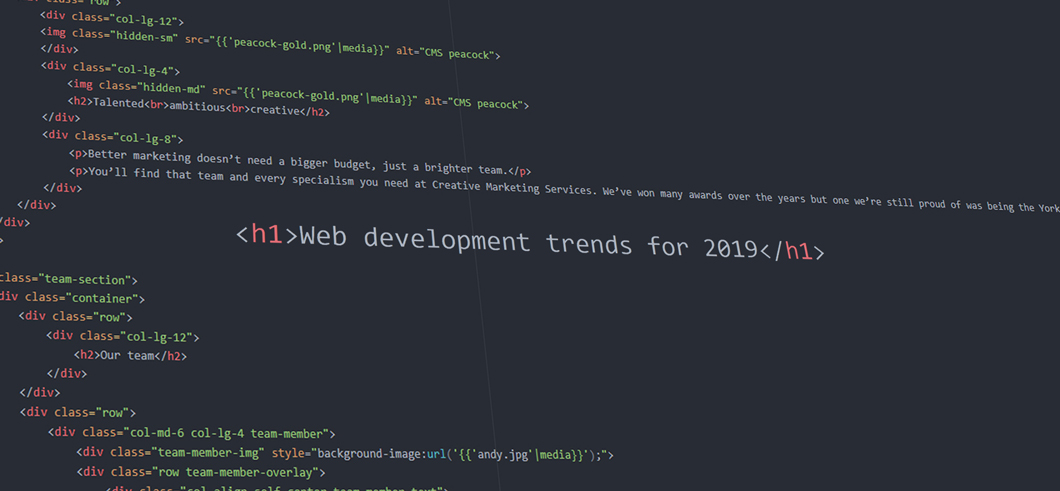 CMS Web development trends for 2019
